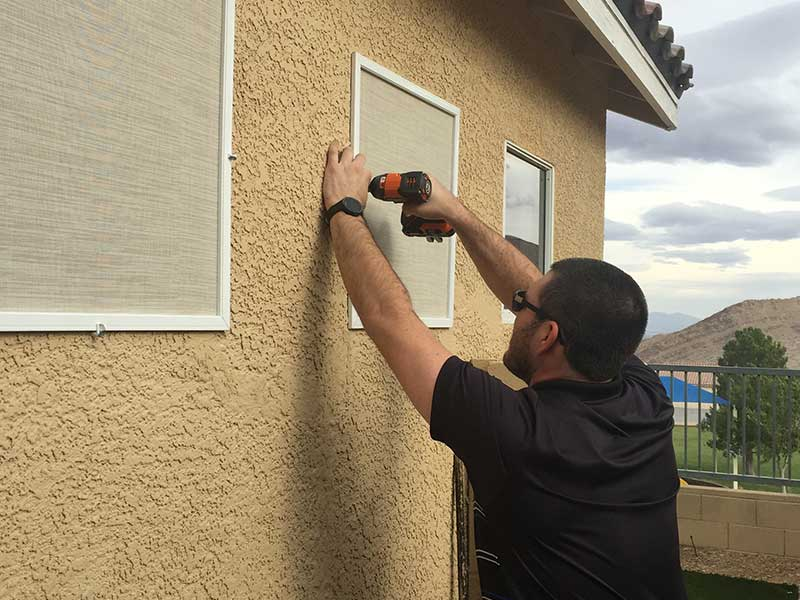 Chase installs a solar screen