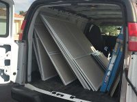 The loaded Solar Screen City van