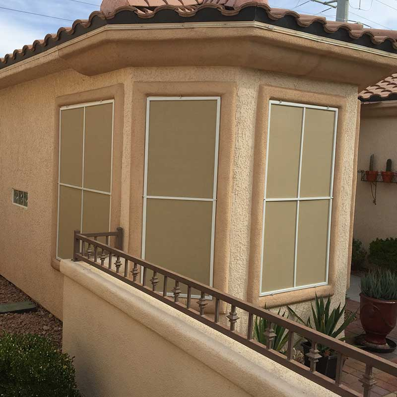 Bay Window Solar Screens