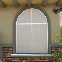 Arched Window Solar Screen